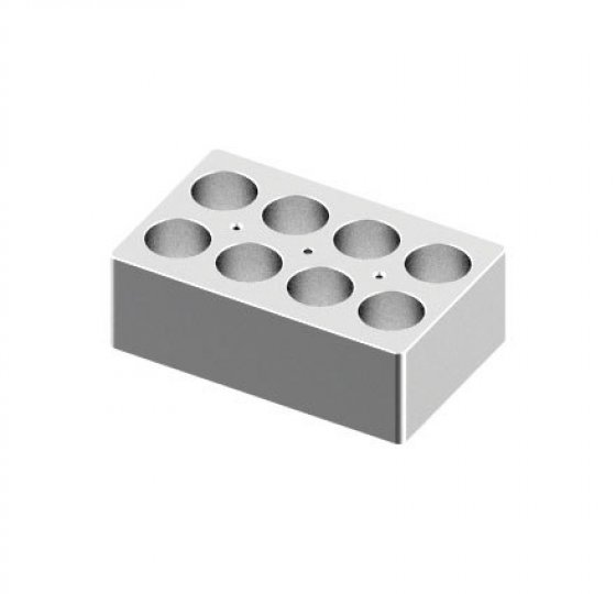 Heating block, used for 50mL tubes, 8 holes_DLAB