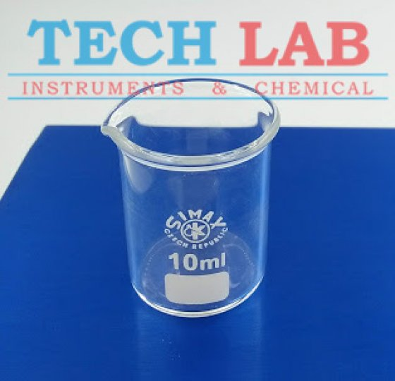 BEAKERS, LOW FORM, WITH SPOUT 10ML_SIMAX