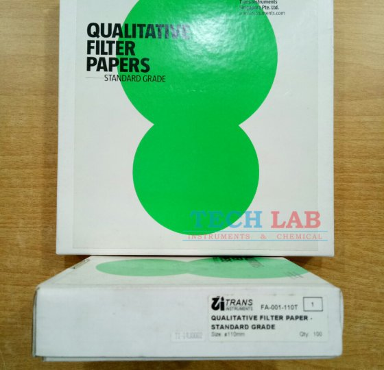 FA-001 Qualitative filter paper with diameter of 110mm_Trans Instruments