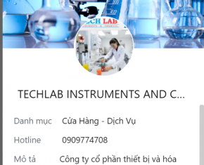 NOTICE OF TECHLAB'S OFFICIAL SALES CHANNELS AND PHONE NUMBERS